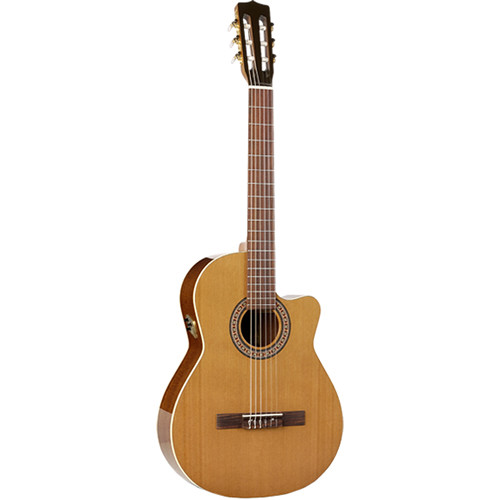 La Patrie Guitars Concert CW QI Nylon-String Acoustic/Electric Guitar (Natural High-Gloss)