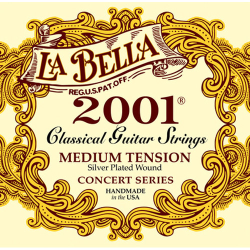 LABELLA 2001 Classical Guitar Strings (6-String, Medium Tension, 29 - 415)