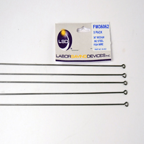 """Labor Saving Devices Steel Fish Wire (0.047"""" Diameter x 36"""", Five-Pack)"""