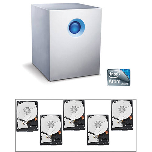LaCie 10TB (5 x 2TB) 5big NAS Pro Hybrid Cloud RAID Kit with Hard Drives