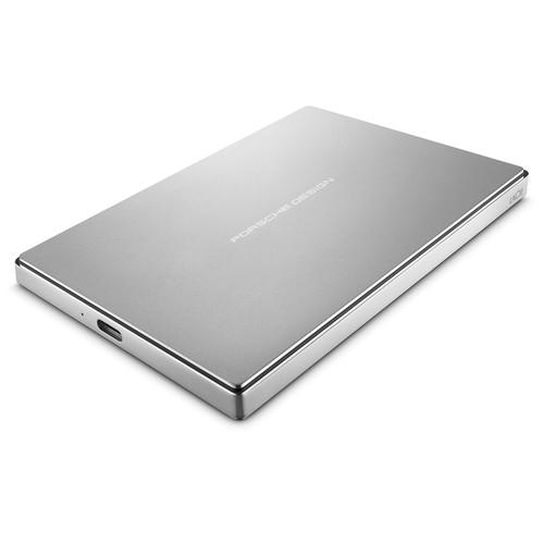 LaCie 1TB Porsche Design USB 3.0 Type-C Mobile Drive (Silver)