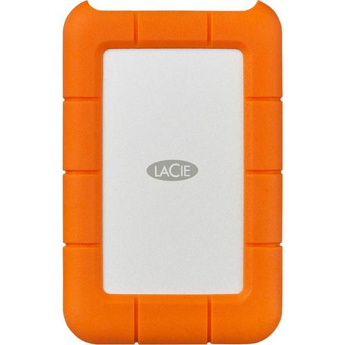 LaCie 4TB Rugged USB 3.0 Type-C External Hard Drive
