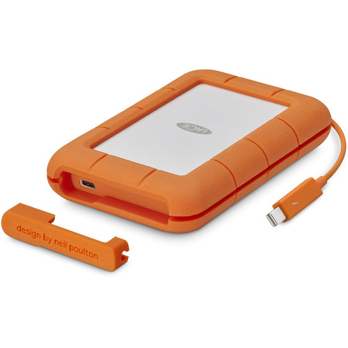 LaCie 1TB Rugged Thunderbolt External SSD with USB Type-C Port