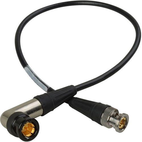 Laird Digital Cinema BNC Straight to BNC Right Angle HD-SDI Sub-Mini RG59 Cable (Belden 1855A, 3')
