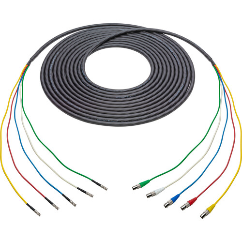Laird Digital Cinema 12G-SDI/4K UHD 5- Channel BNC Female to HDBNC Male Snake Cable (Black, 50')