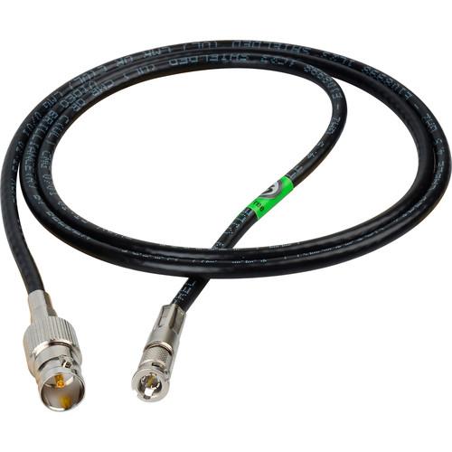 Laird Digital Cinema High Density HD-BNC Male to Standard BNC Female HD-SDI Cable (3')