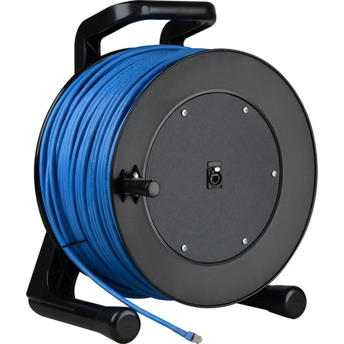 Laird Digital Cinema CAT6 Integrated Cable Reel with Built-In RJ45 Jack in Hub (328')