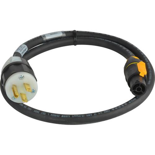Laird Digital Cinema Neutrik TRUE1 powerCon to NEMA5-15P 20A Power Input AC Cable (25')