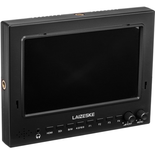 "Laizeske 7"" 1024 x 600 3G-SDI HDMI Camera-Top Field IPS Monitor with Peaking Focus"