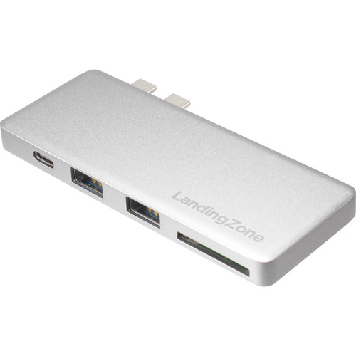 LandingZone USB Type-C Hub for MacBook Pro (Silver)