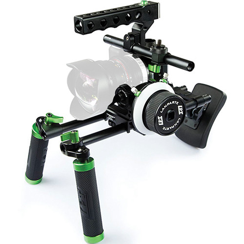 Lanparte Blackmagic Pocket Cinema Camera Basic Handle Rig with Follow Focus