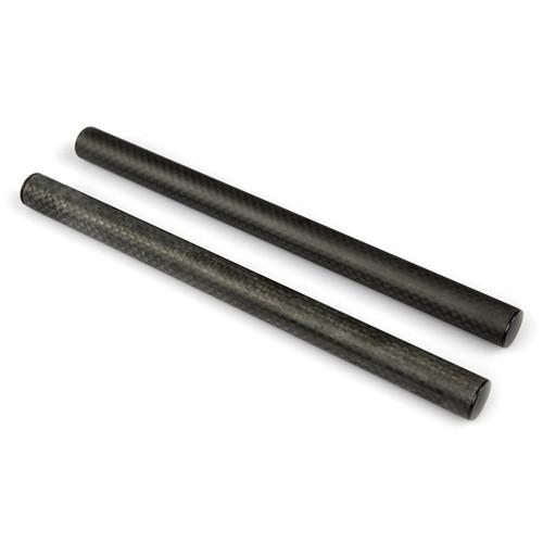"""LanParte Carbon Fiber 15mm Rods (Pair, 9.8"""")"""