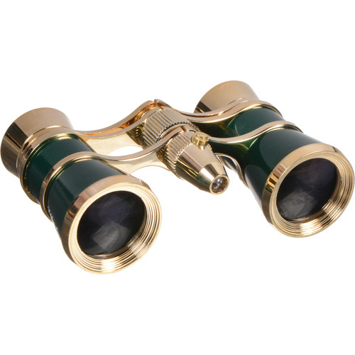 LaScala Optics 3x25 Aida Opera Glasses (Green / Gold)