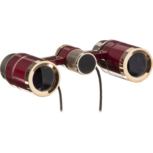 LaScala Optics 3x18 Figaro Opera Glasses (Burgundy/Gold)