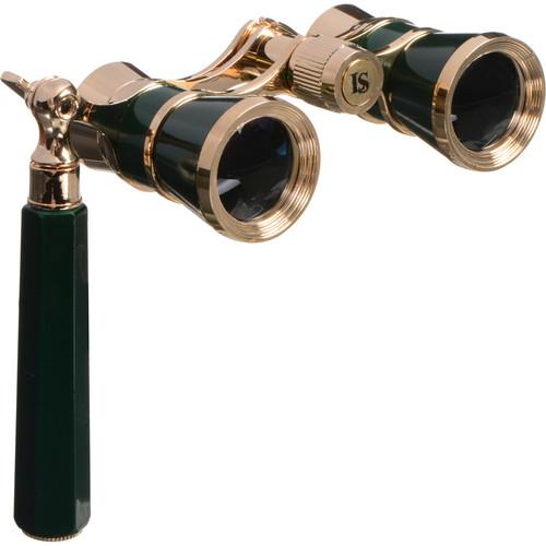 LaScala Optics 3x25 Iolanta Opera Glasses (Green & Gold)
