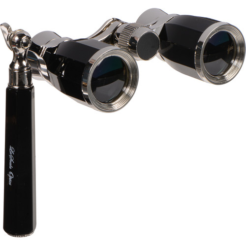 LaScala Optics 3x25 Rigoletto Opera Glasses (Black / Silver)