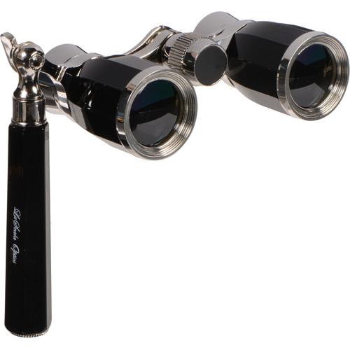 LaScala Optics 3x25 Rigoletto Opera Glasses (Black & Silver)