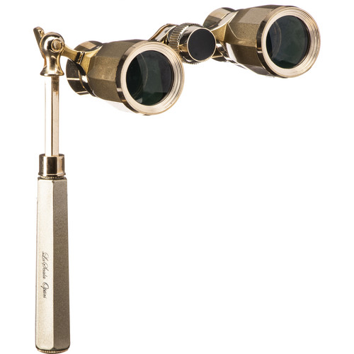 LaScala Optics 3x25 Rigoletto Opera Glasses (Titanium & Gold)