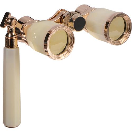 LaScala Optics 3x25 Rigoletto Opera Glasses (Mother-of-Pearl)