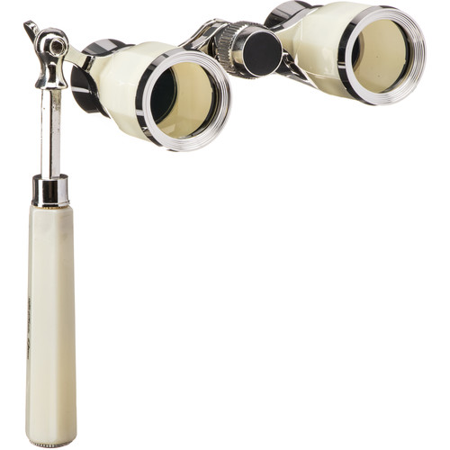 LaScala Optics 3x25 Rigoletto Opera Glasses (Mother of Pearl & Silver)