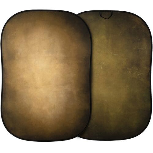 Lastolite Vintage Reversible Collapsible Background (5x7', Tobacco/Olive)