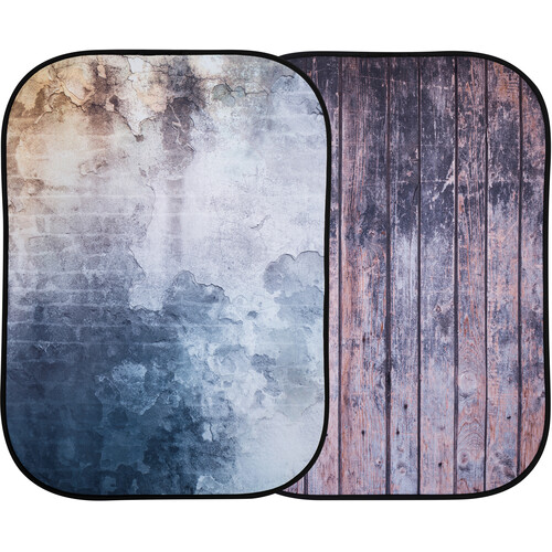 Lastolite Urban Collapsible Background (5 x 7', Distressed Wall/Wood Fence)