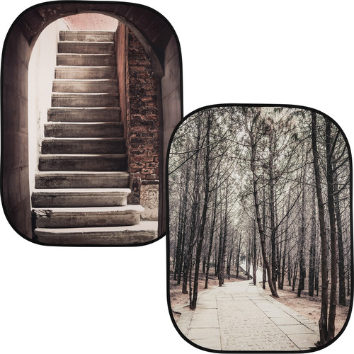 Lastolite 5x7 Perspective Background (Steps/Trees)