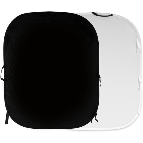 Lastolite Collapsible Reversible Background (5 x 6', Black/White)