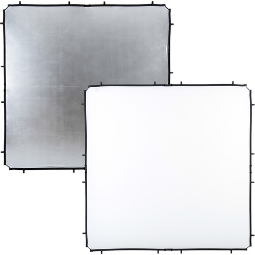 Lastolite 6.6 x 6.6' SkyLite Rapid Fabric Reflector (Silver/White)