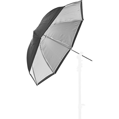 "Lastolite Dual-Duty Compact Umbrella (Black/White, 28"")"