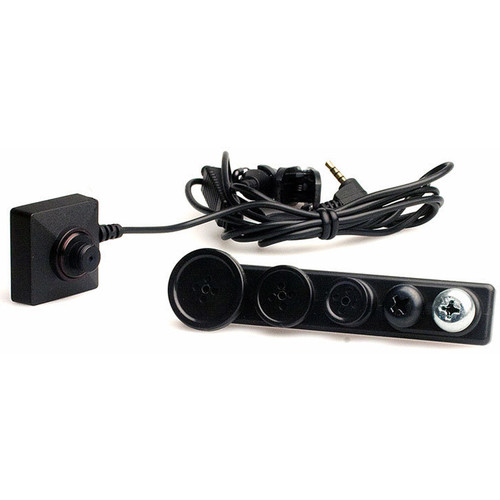 LawMate BU-19 Button-Type Wired CCD Covert Camera Kit