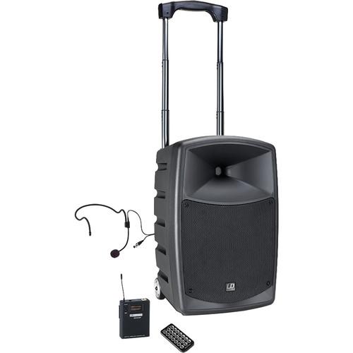 "LD Systems Roadbuddy Battery Powered Portable BT 10""Speaker/Mixer/Wireless Bodypack/Headset/584-607MHz/480WP"
