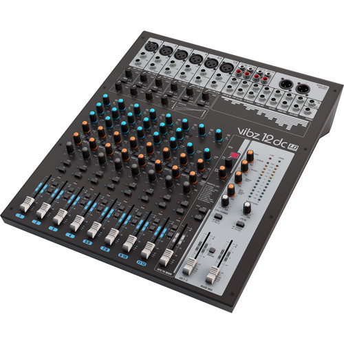 LD Systems VIBZ 12 DC 12-Channel Live Sound Mixing Console with DFX and Compressor