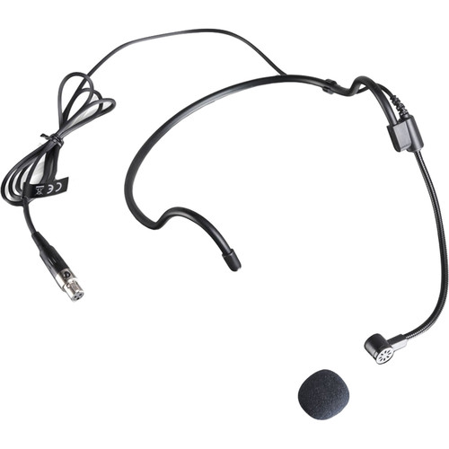 LD Systems WS 100 MH 1 Cardioid Headset Microphone for Wireless Bodypack Transmitters (Black)