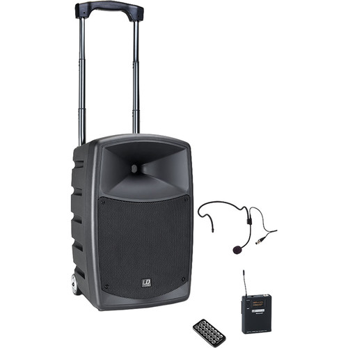 LD Systems Roadbuddy 10 HS Battery-Powered Bluetooth Speaker with Bodypack and Headset Microphone
