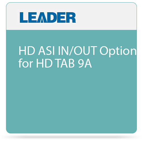 Leader HD ASI IN/OUT Option for HD TAB 9A