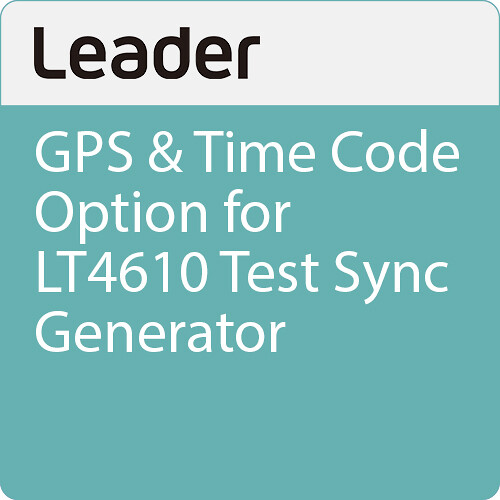 Leader GPS & Time Code Option for LT4610 Test Sync Generator