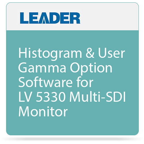 Leader Histogram & User Gamma Option Software for LV 5330 Multi-SDI Monitor
