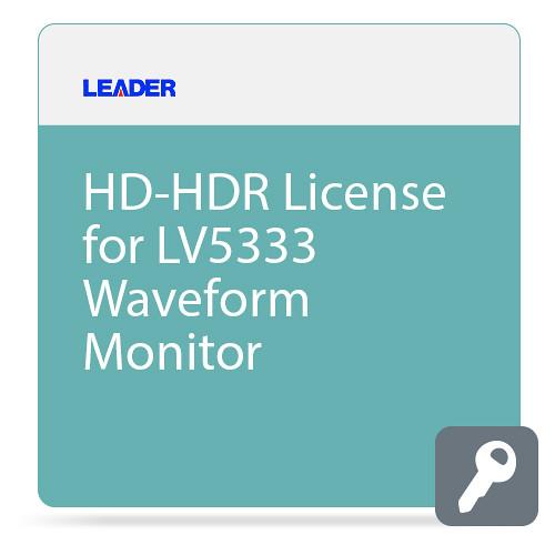 Leader HD-HDR License for LV5333 Waveform Monitor