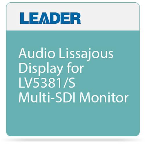 Leader Audio Lissajous Display for LV5381/S Multi-SDI Monitor