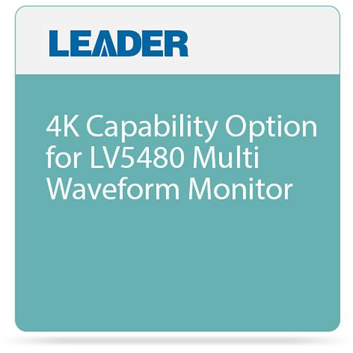 Leader 4K Capability Option for LV5480 Multi Waveform Monitor