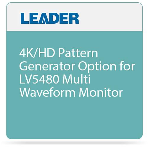 Leader 4K/HD Pattern Generator Option for LV5480 Multi Waveform Monitor