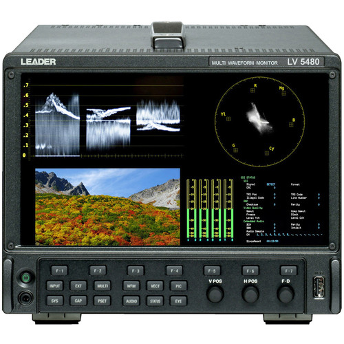 Leader Multi SDI Waveform Monitor with Up to 8-Inputs and Eye Pattern Capabilities