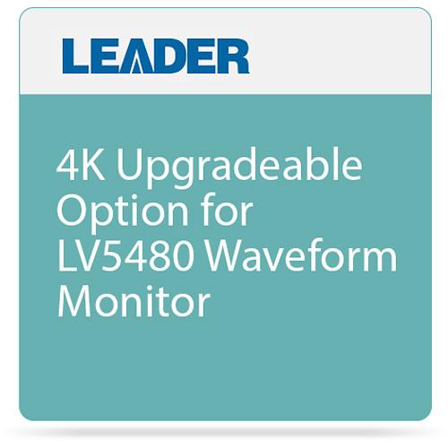 Leader 4K Upgradeable Option for LV5480 Waveform Monitor