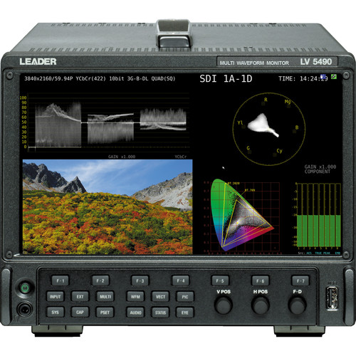 Leader SD to 4K 3G-SDI Waveform, Eye Pattern, and Jitter Monitor
