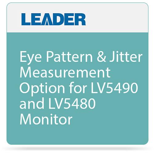 Leader Eye Pattern & Jitter Measurement Option for LV5490 and LV5480 Monitor