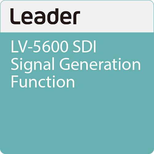 Leader LV-5600 SDI Signal Generation Function
