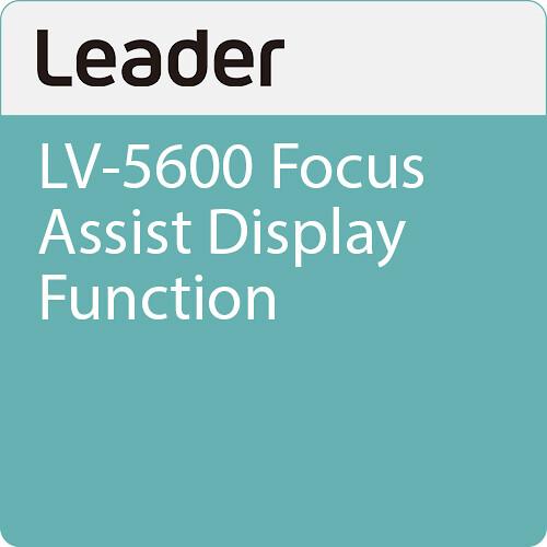 Leader LV-5600 Focus Assist Display Function