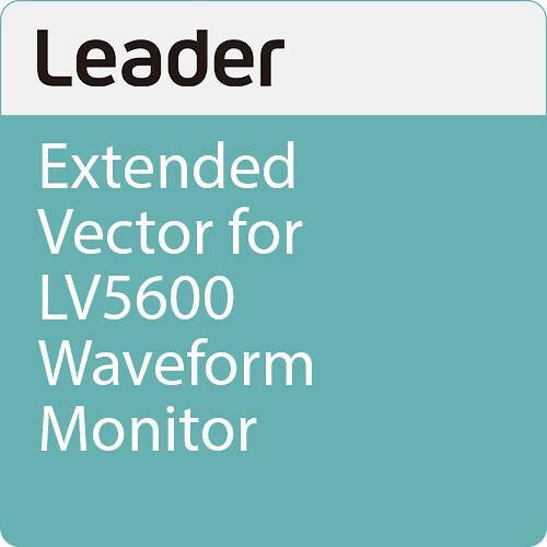 Leader Extended Vector for LV5600 Waveform Monitor
