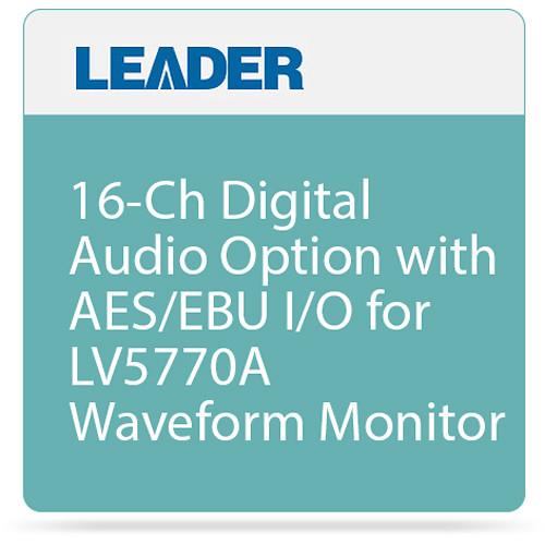 Leader 16-Ch Digital Audio Option with AES/EBU I/O for LV5770A Waveform Monitor